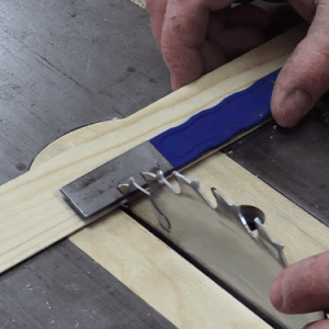 Using miter saw 45 degree