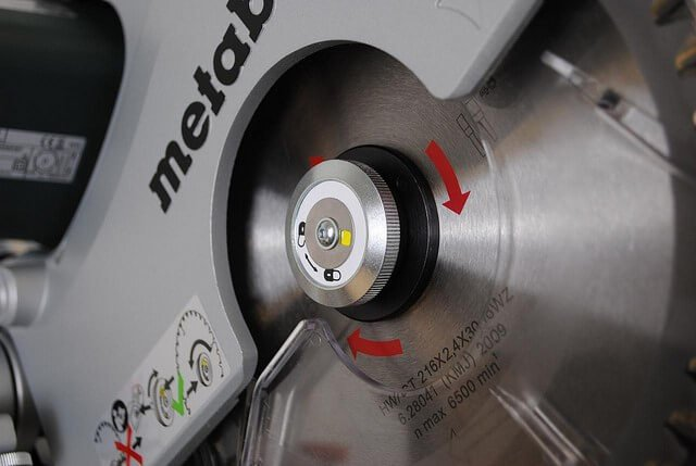 size of miter saw