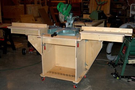 Diy How To Make Your Own Mobile Miter Saw Work Stand