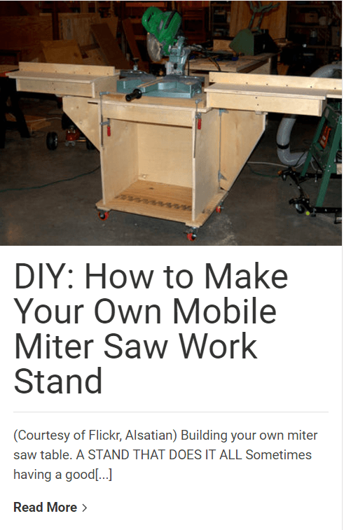 DIY build miter saw stand