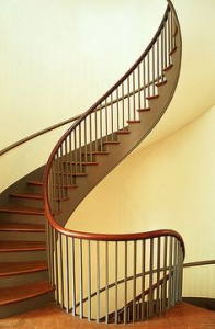 Staircase in a Shaker building