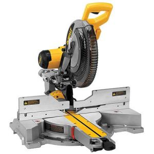 miter saw labeled. this saw can do it all! trim work is a piece of cake using dewalt miter saw. make sure you get the optional crown molding stops (dw7084), which allows labeled
