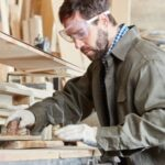 Wear googles while using benchtop jointer